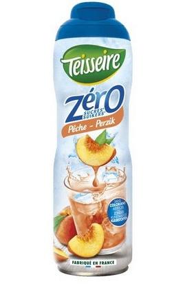 Teisseire zéro 0% de sucre pêche 60cl