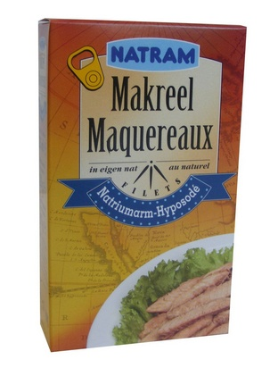Natram filets maquereaux au naturel 125g