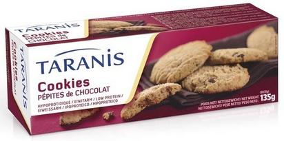 Taranis cookies pépites de chocolat 135g