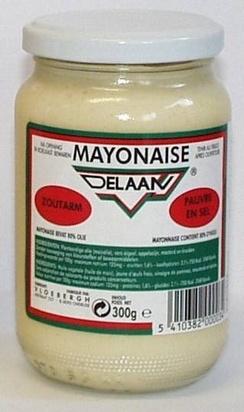 Delaan mayonnaise nature 300g sans sel