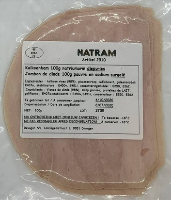 Natram jambon de dinde ps/maigre 100gx10 surg