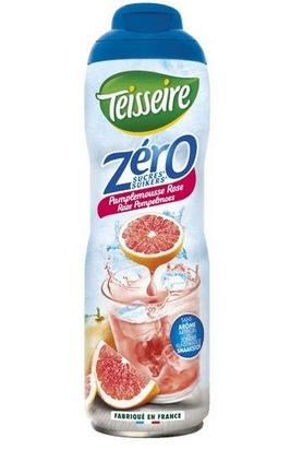 Teisseire zéro 0% de sucre pamplemousse rose 60cl