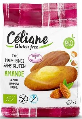 Céliane madeleines amande bio 6pcs 180g