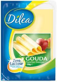 Dilea zero lactose gouda jeune tranches 150g