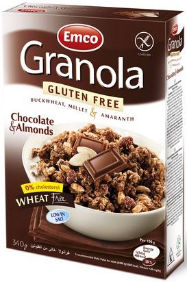 Emco granola chocolat et amandes 340g