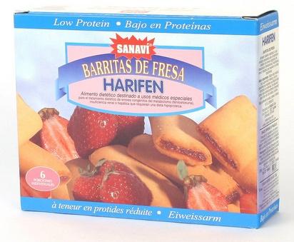 Sanavi Harifen biscuits fourrés fraise 125g