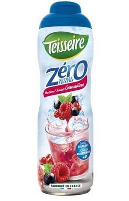 Teisseire zéro 0% de sucre grenadine 60cl