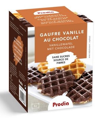 Prodia gaufres vanille au chocolat 180g maltitol