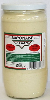 Delaan mayonnaise nature 710g sans sel