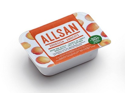 Allsan pâte à tartiner abricot 25gx100