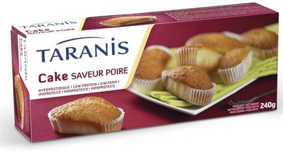 Taranis cake saveur poire 6port 240g