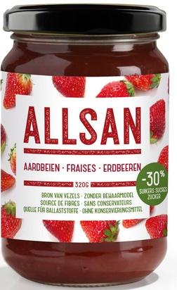 Allsan pâte à tartiner 320g fraise