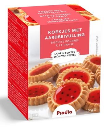 Prodia biscuits fourrés à la fraise 150g