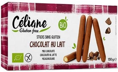 Céliane bâtonnets chocolat au lait bio 130g
