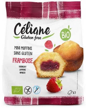 Céliane mini muffins framboise bio 7pcs 200g