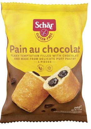 Schär pain au chocolat 260g (4 x 65g) surg