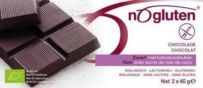 Nogluten chocolat noir bio 2 x 45g