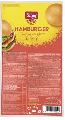 Schär pain hamburger 4pcs 300g