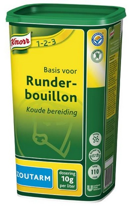 Knorr bouillon de boeuf pauvre en sodium 1,1kg
