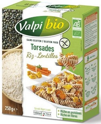 Valpi bio torsades riz-lentilles 250g
