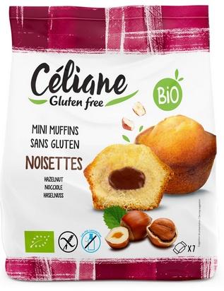 Céliane mini muffins chocolat bio 7 pcs 200g