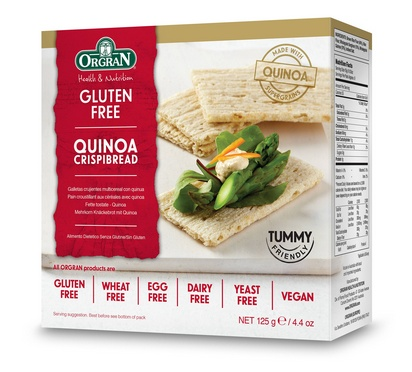 Orgran biscottes multicéréales avec quinoa 125g
