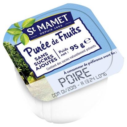 St Mamet purée de poires 100ml x 120 s/sucre