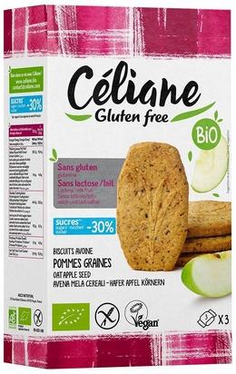 Céliane biscuits pet. déjeuner pomme bio 4px3 150g