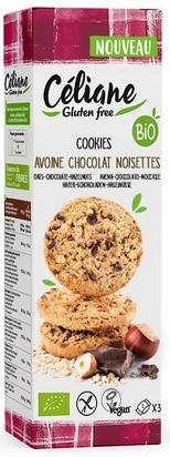 Céliane cookies avoine choc. noisettes bio 3p 120g