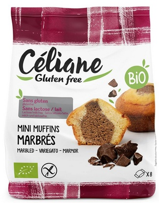 Céliane mini muffin marbré bio 8pcs 200g