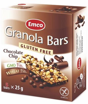 Emco granola bars chocolate chip 25g x 5