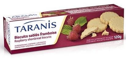 Taranis biscuits sablés framboise 120g