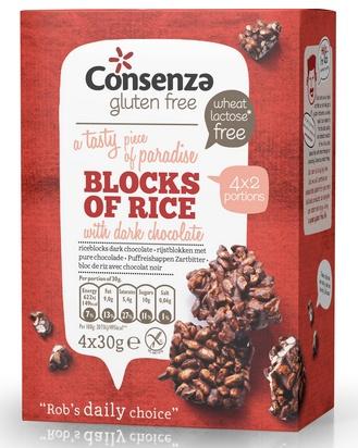Consenza bloc de riz chocolat noir 120g