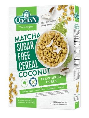 Orgran céréales sans sucre matcha/noix de coco200g