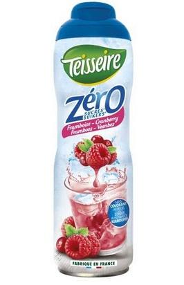 Teisseire zéro 0% de sucre framboise-cranberry 60c