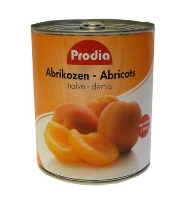 Prodia abricots demis 820g