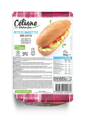 Céliane franse stokbroodjes 2st 150g