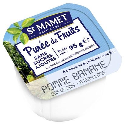 St Mamet purée de pommes-bananes 100ml x 120 s/su