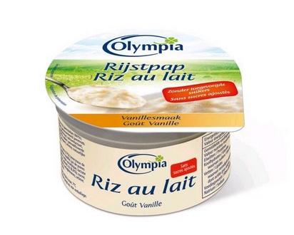 Olympia riz au lait goût vanille 100g x 24 édulc