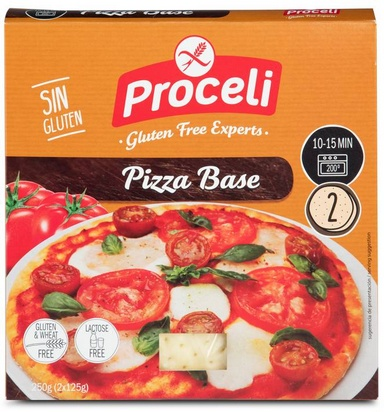 Proceli pâte précuite pizza 2pcs 250g
