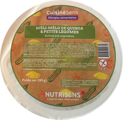 NS méli-mélo de quinoa et légumes 280gx12 all°(14)