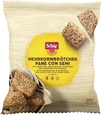 Schär Mehrkornbrötchen 5pcs 250g  surgelé