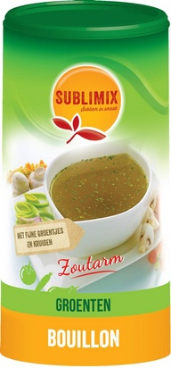 Sublimix bouillon de legumes 260g pauvre en sel