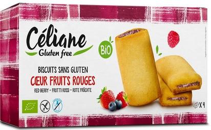 Céliane biscuits coeur fruits rouges bio 2px4 160g