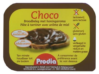 Prodia pâte à tartiner choco & arôme miel 25g x100