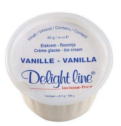 Delight Line crème glacée sans lactose 80ml x 36