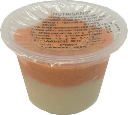 NS crème de poivrons et céleri chorizo 80gx12 surg