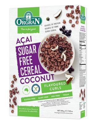 Orgran céréales sans sucre açai/noix de coco 200g