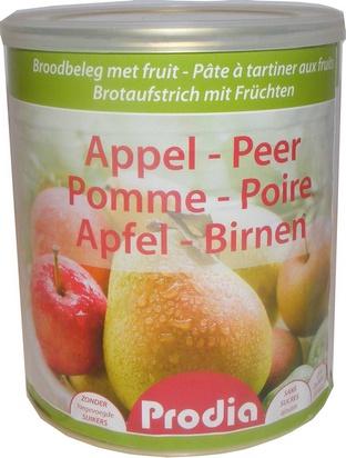 Prodia pâte à tartiner pomme-poire 850g