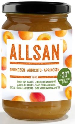 Allsan pâte à tartiner 320g abricots